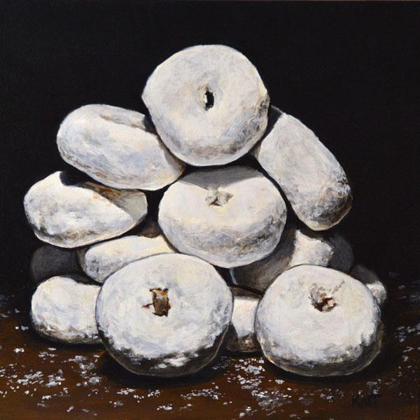 """Donut Shrine 2, 6"""" x 6"""", acrylic on panel."""